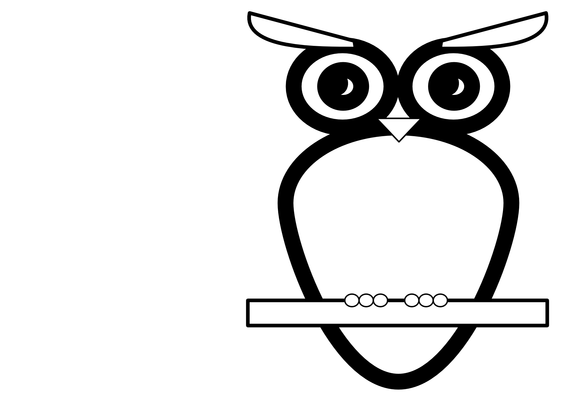 Owl Book Clipart | Clipart Panda - Free Clipart Images vector black and white download
