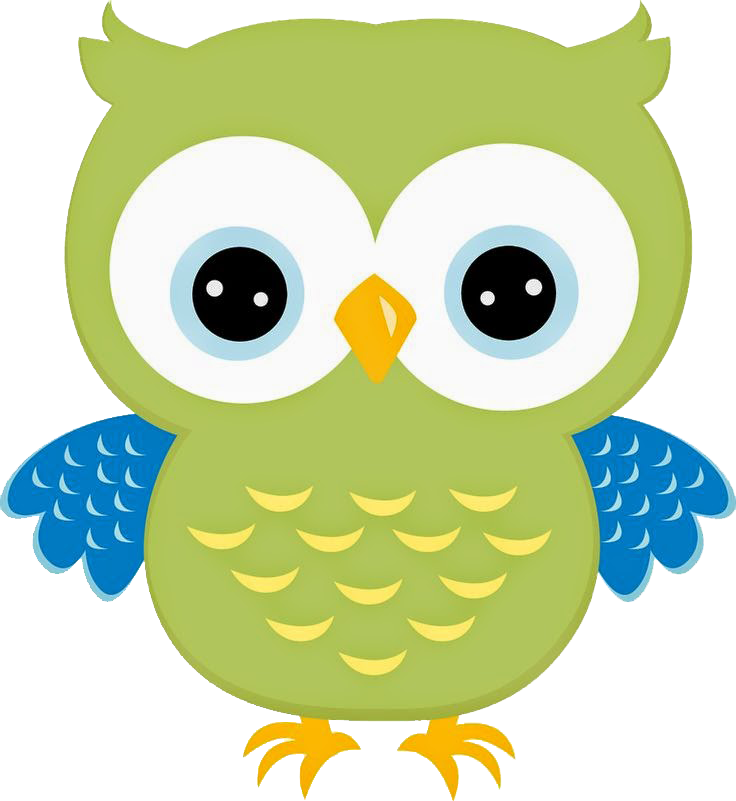 Clipart smart owl colored book jpg transparent library corujinha-verde-13.png (736×801) | Corujas | Pinterest | Owl, Crafts ... jpg transparent library