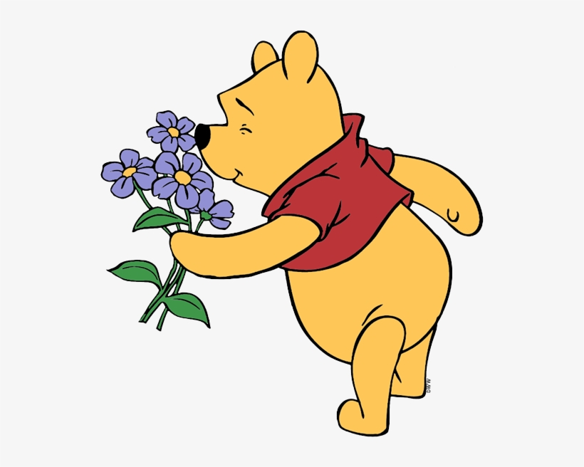 Clipart smelling svg transparent library Pooh Cartoon Transparent - Smelling A Flower Clipart - Free ... svg transparent library