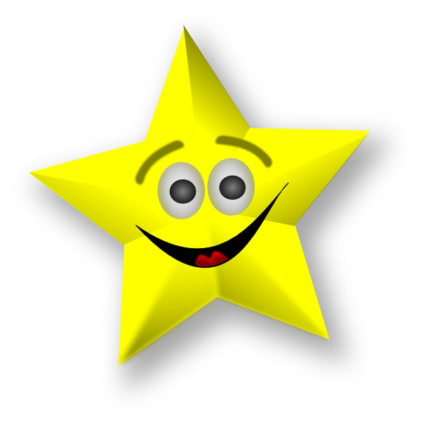Smiley star clipart black and white stock Smiling Star Clip Art at Clker.com - vector clip art online, royalty ... black and white stock