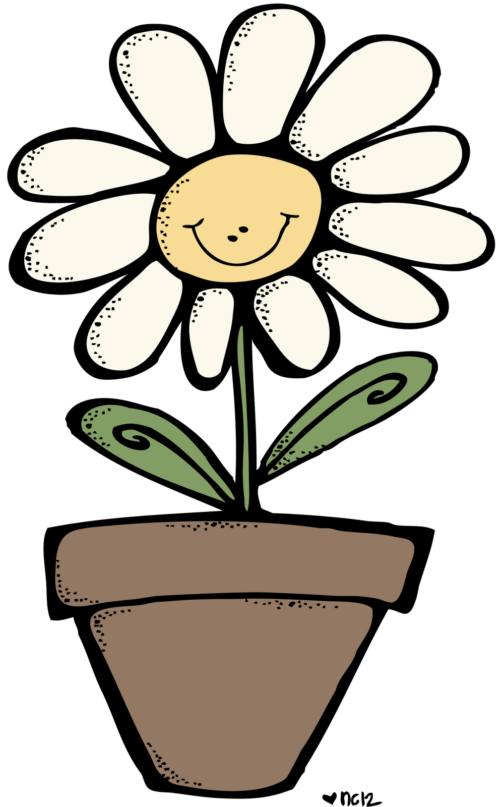 Smiling flower clipart picture free library MelonHeadz: Some days we just need to smile! picture free library