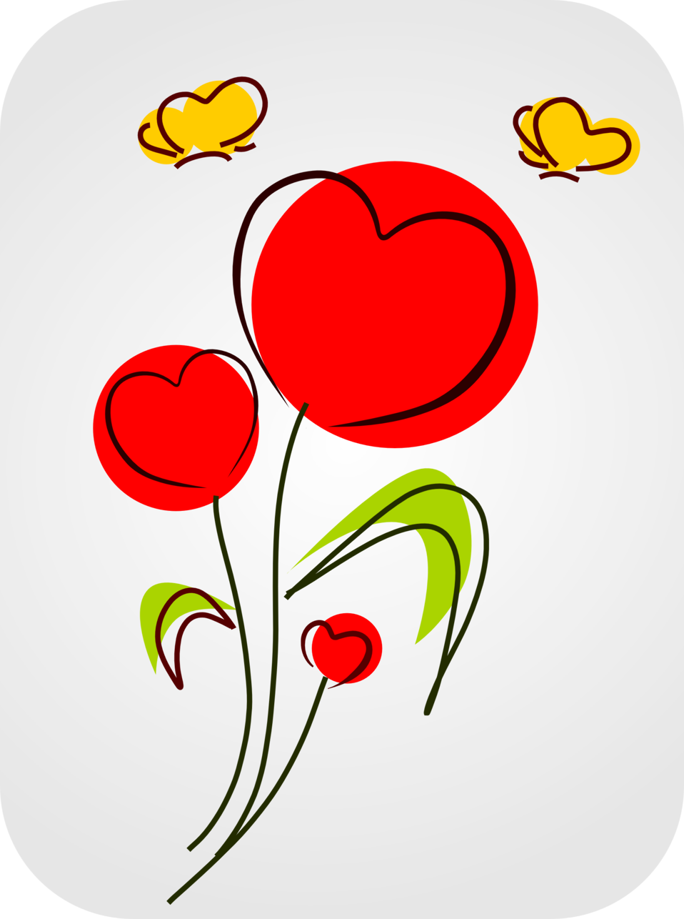 Clipart smiling flower banner free download Public Domain Clip Art Image | Flowers with Hearts | ID ... banner free download