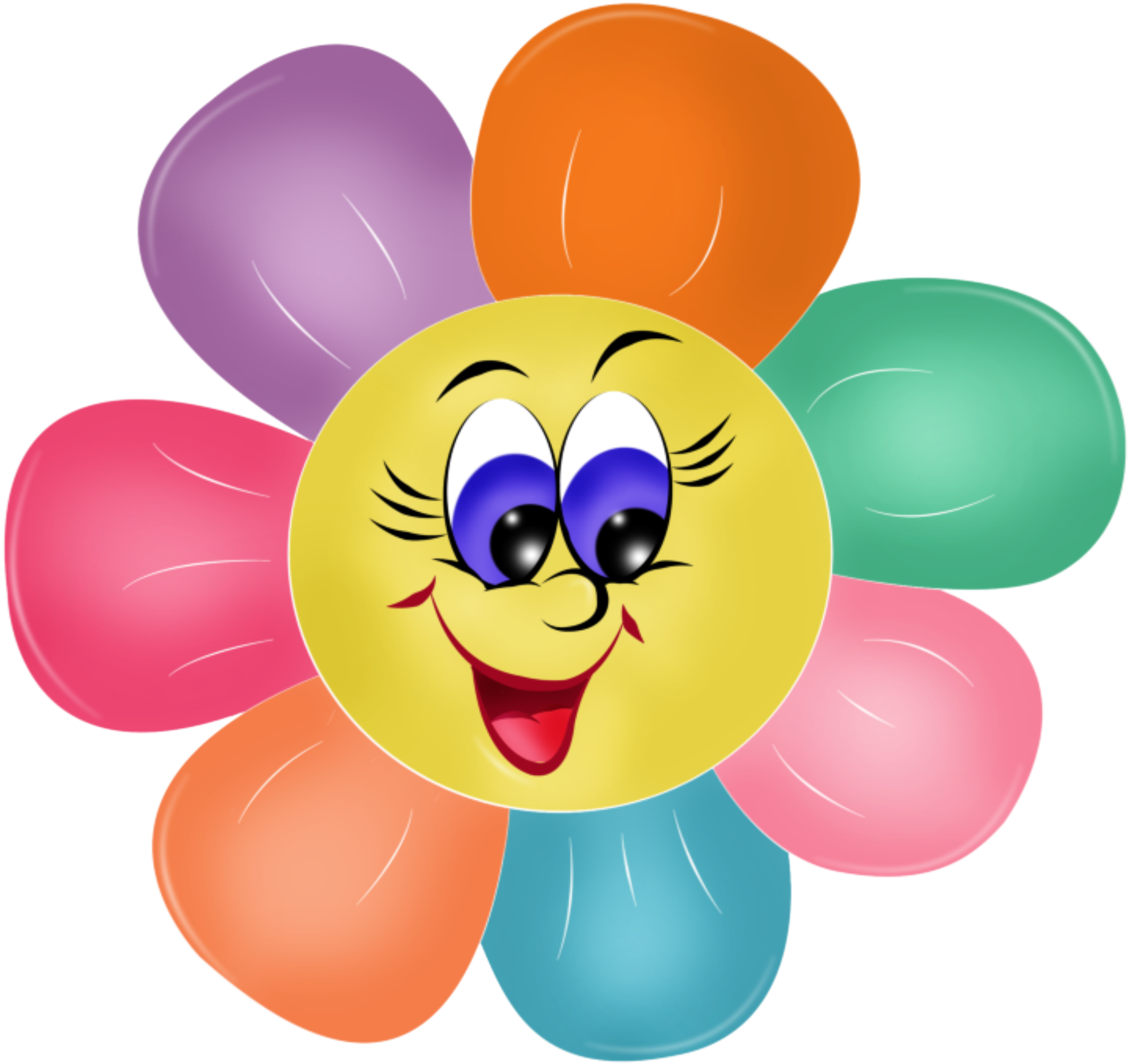 Smiling flower clipart clipart free azbuka.png (2126×2002) | Klipart | Pinterest | Smileys, Smiley and ... clipart free
