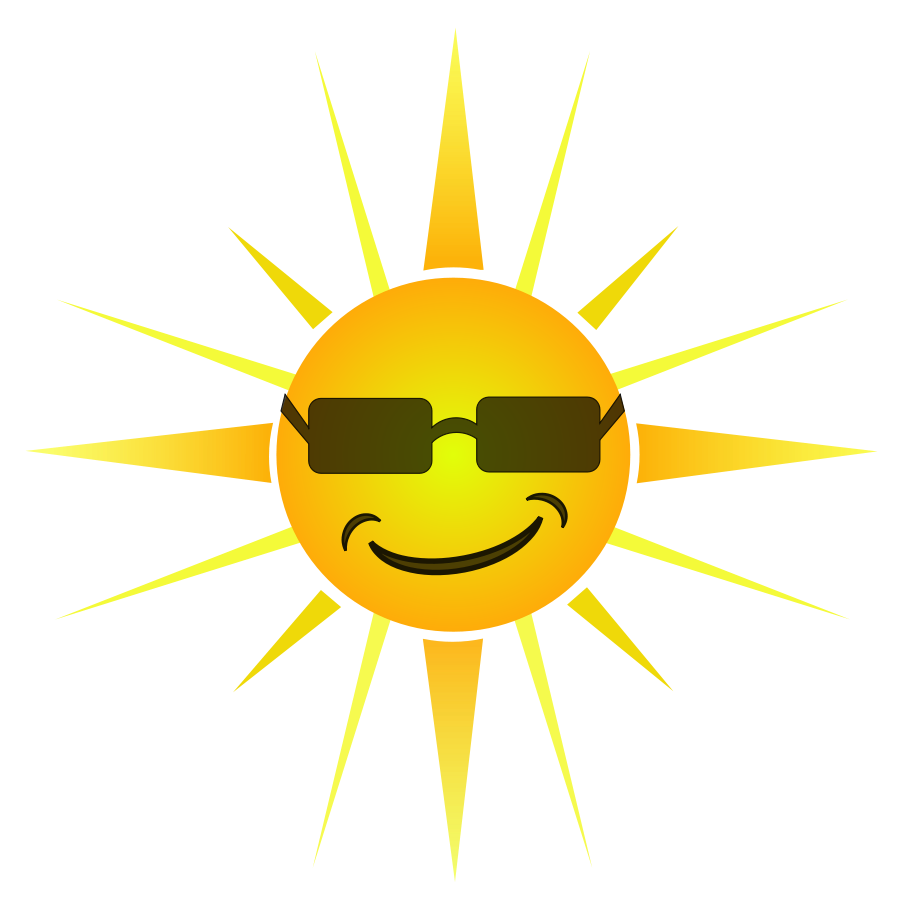Clipart smiling sun svg freeuse stock Best Happy Sun Clipart #12682 - Clipartion.com svg freeuse stock