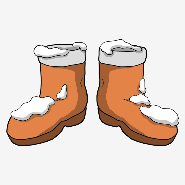 Falling Snow Boots Beautiful Boots Cartoon Boots Boots Illustration ... image library