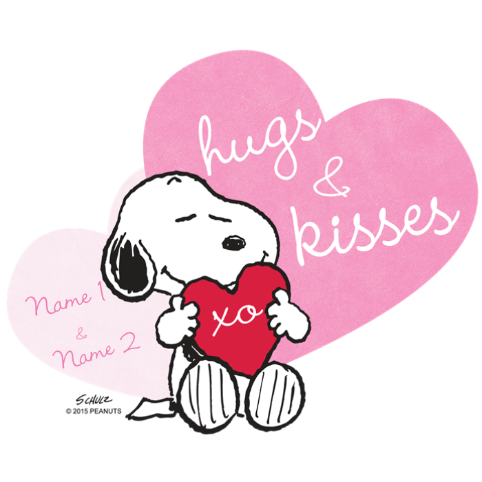 Snoopy Hugs and Kisses - Personalized Tote Bag by snoopystore free download