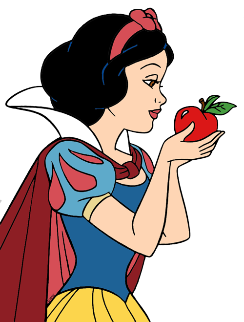Snow white clipart apple vector freeuse library Snow White Clip Art | Disney Clip Art Galore vector freeuse library
