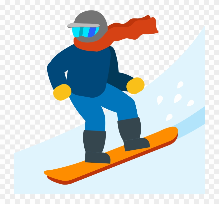 Snowboard clipart image black and white library Ski Emoji Png Clipart Skiing Snowboarding Clip Art - Ski Emoji ... image black and white library