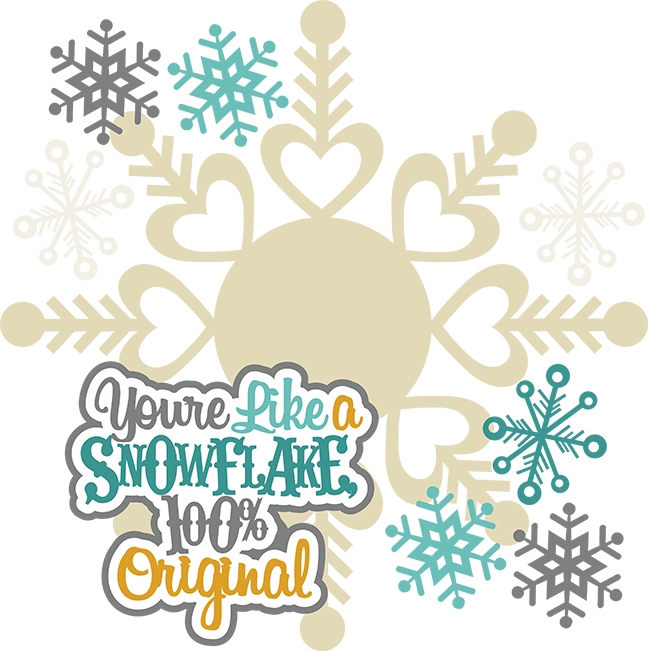 Clipart snowflake flourishes clipart transparent download You're Like A Snowflake SVG cutting files winter svg cut files free ... clipart transparent download