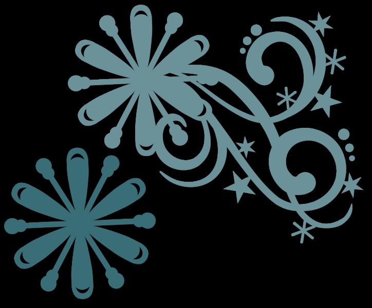Clipart snowflake flourishes clip art freeuse Snowflake Stars Flourish | SnapDragon Snippets clip art freeuse