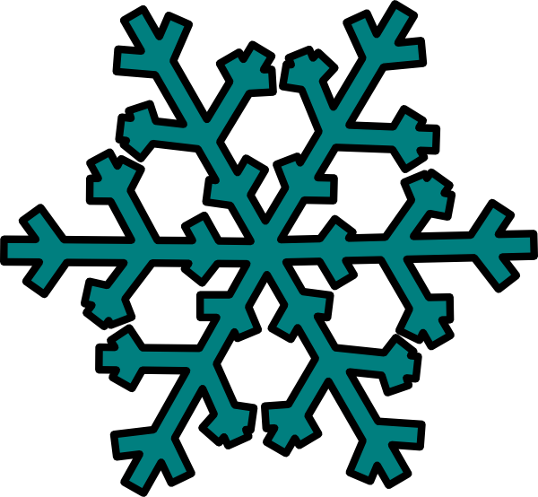 Snowflake cloud clipart svg freeuse library Teal Snowflake Clip Art at Clker.com - vector clip art online ... svg freeuse library