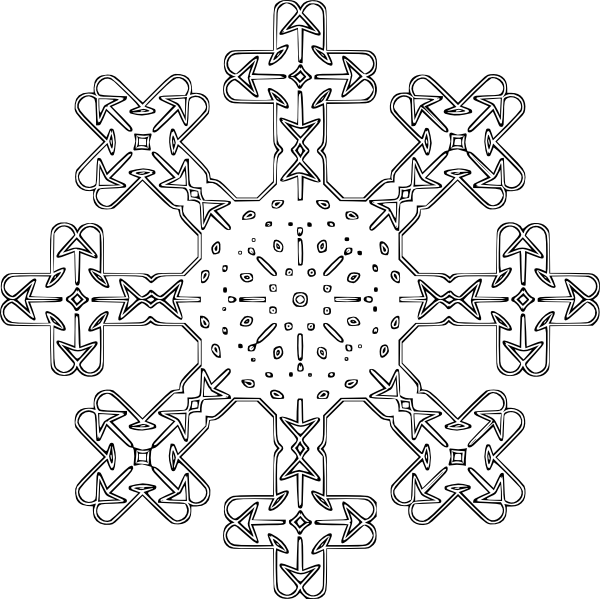 Clipart snowflake no background picture freeuse library Flake Clip Art at Clker.com - vector clip art online, royalty free ... picture freeuse library