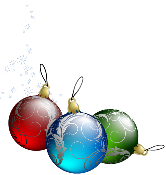 Clipart snowflake ornament graphic transparent stock Transparent Christmas Bulbs PNG Picture | Клипарты Новогодние ... graphic transparent stock
