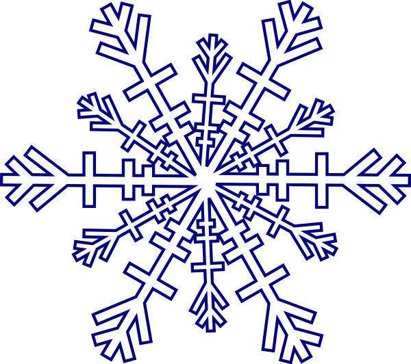 Clipart snowflake purple graphic black and white download Snowflake Clip Art at Clker.com - vector clip art online, royalty ... graphic black and white download