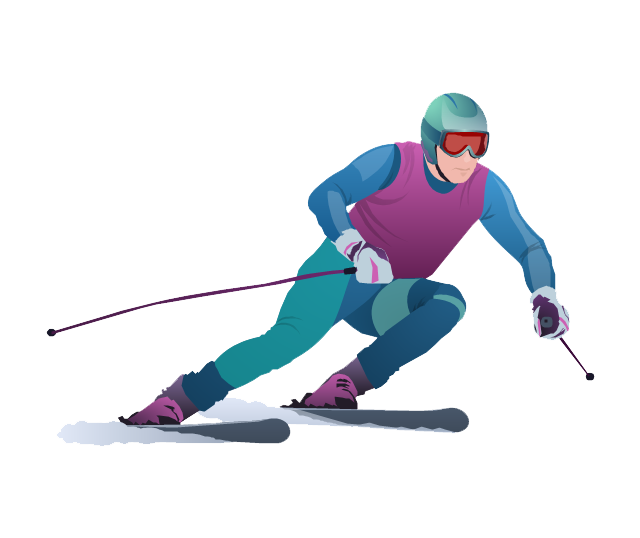 Download Skiing Clipart HQ PNG Image | FreePNGImg vector black and white download