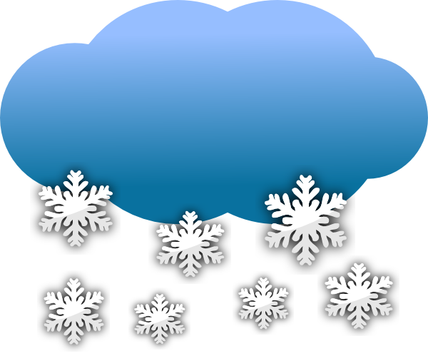 Clipart snowing royalty free library Snow Clouds Clip Art at Clker.com - vector clip art online, royalty ... royalty free library