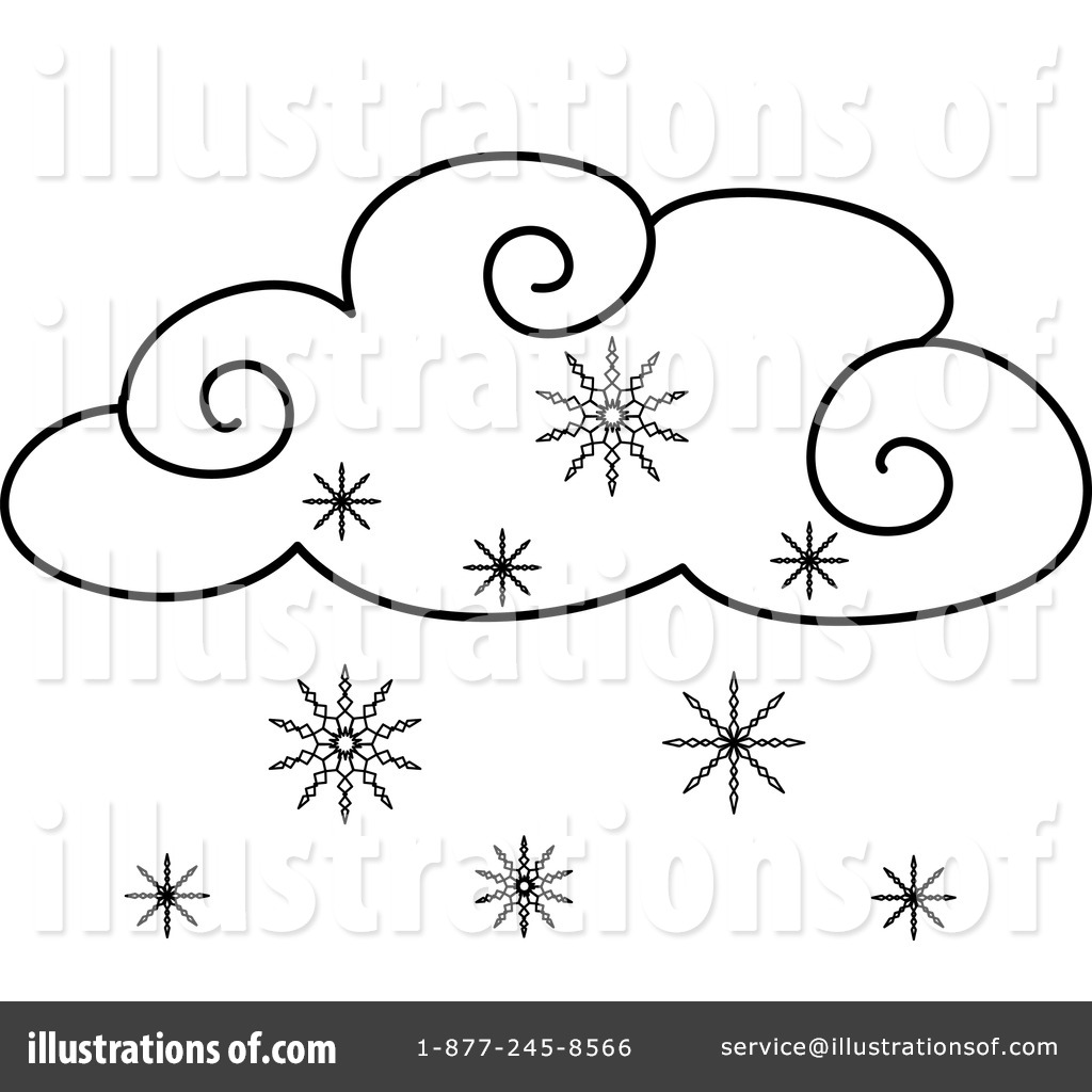 Clipart snowing vector black and white download Snowing Clipart #433850 - Illustration by Pams Clipart vector black and white download