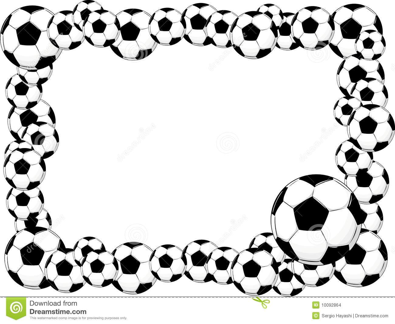 Clipart soccer ball picture royalty free download Clipart soccer balls border - ClipartFest picture royalty free download