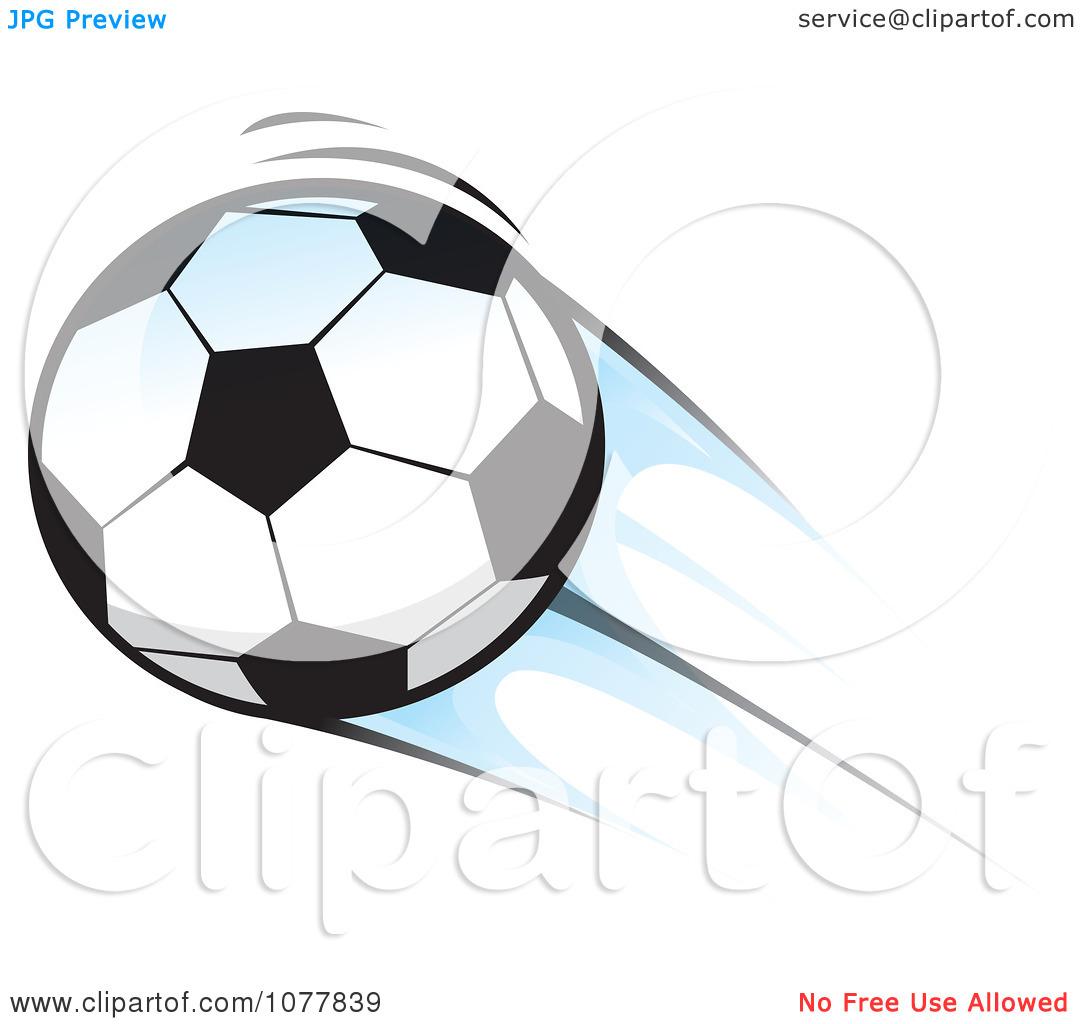 Flying royalty vector illustration. Clipart soccer ball free