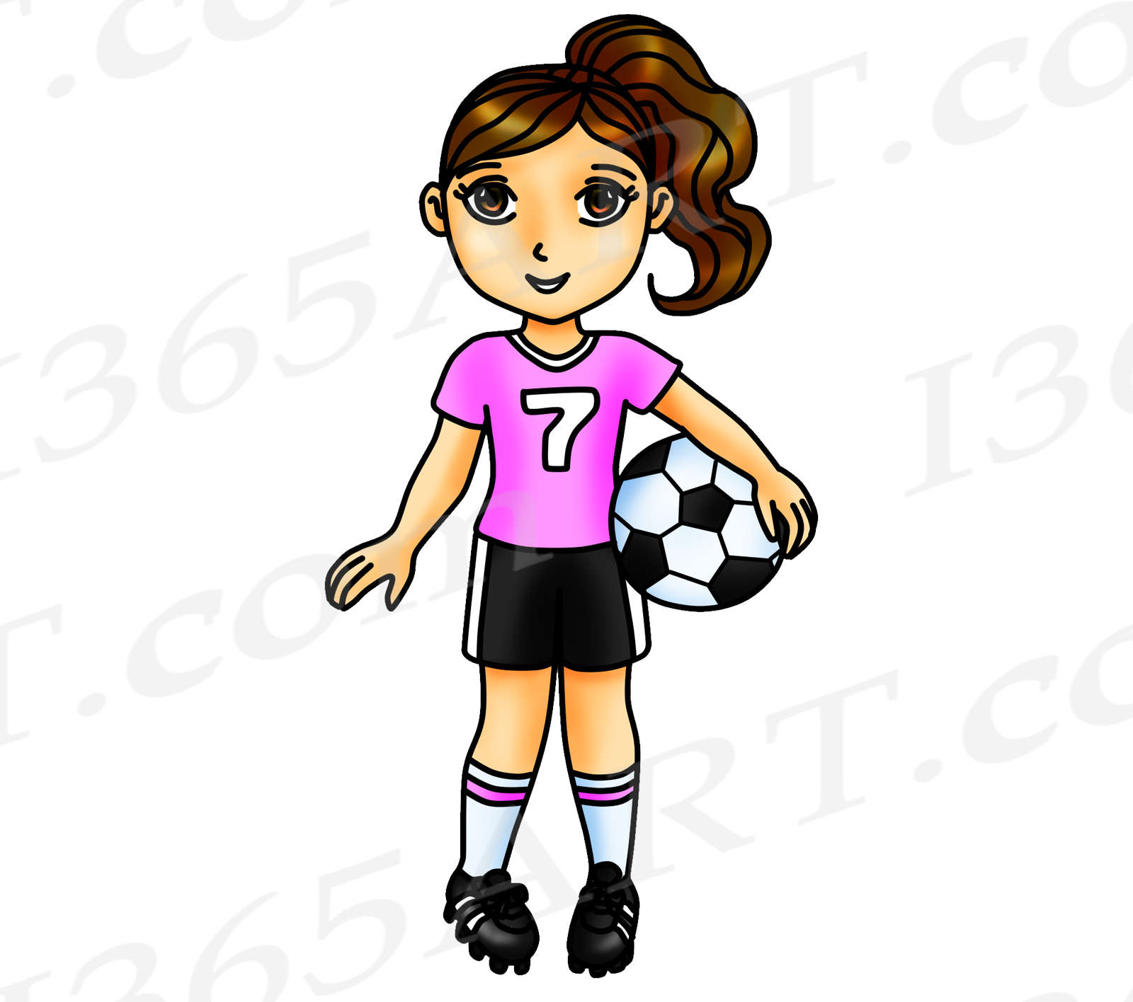 Clipart soccer girl banner royalty free library Soccer Clipart, Pink Soccer Girl Clipart, Sports Clip Art, Pink Team, World  Cup, Olympics, Soccer Team, Planner Stickers, African American banner royalty free library