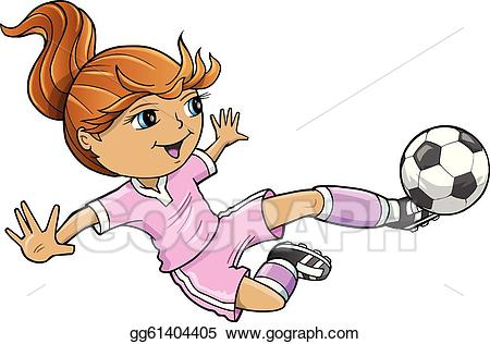 Clipart soccer girl png freeuse download Vector Stock - Sports summer soccer girl vector . Clipart ... png freeuse download