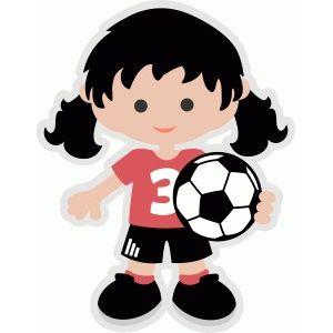 Clipart soccer girl svg transparent library Soccer girl | party | Kids soccer, Girl clipart, Girl silhouette svg transparent library