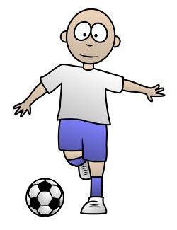 Clipart soccer player no ball. Drawing a cartoon