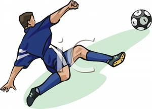 Clipart soccer player no ball graphic black and white download Soccer player kicking ball clipart - ClipartFest graphic black and white download