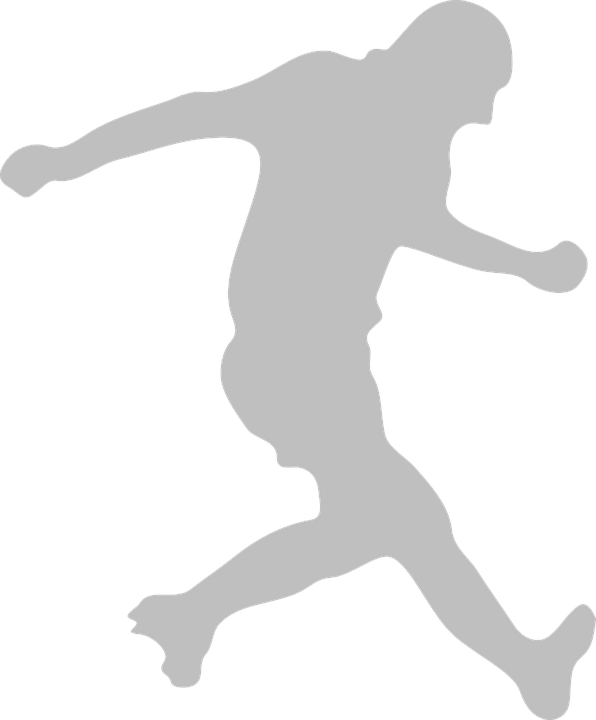 Clipart soccer player no ball clip black and white download Free vector graphic: Football, Soccer, Player - Free Image on ... clip black and white download