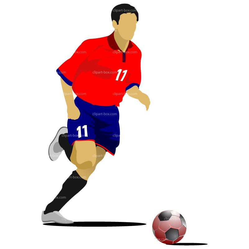 Clipart soccer player no ball black and white library Free clipart soccer player - ClipartFest black and white library