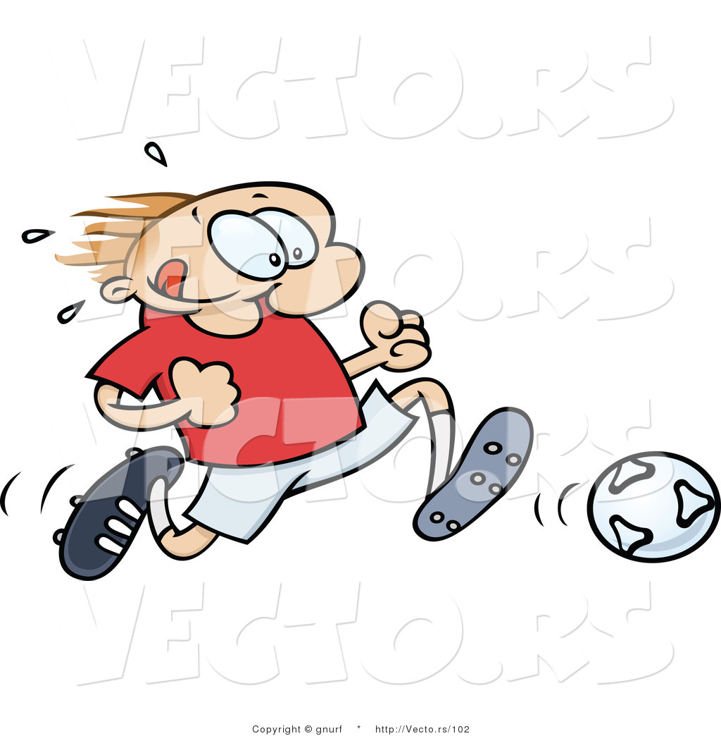 Clipartfox running with . Clipart soccer player no ball