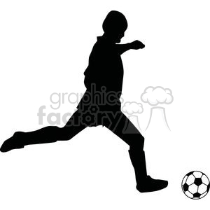 Images silhouette barcelona s. Clipart soccer player no ball