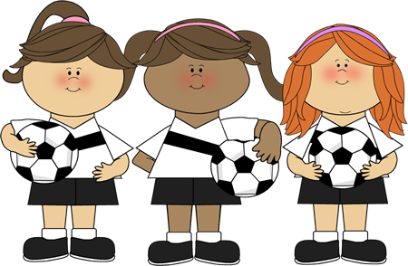 Cute soccer clipart png black and white stock cute clip art ~ Girl Soccer Players | church | Kids soccer, Soccer ... png black and white stock