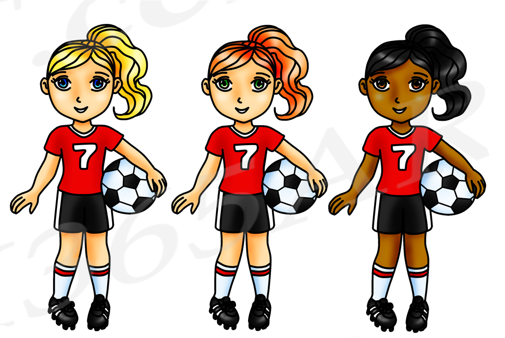Clipart soccer team png transparent Soccer Clipart, Red Soccer Girl Clipart, Sports Clip Art, Red Team, World  Cup, Planner Stickers png transparent