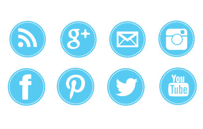 Kid similar to blue. Clipart social media icons