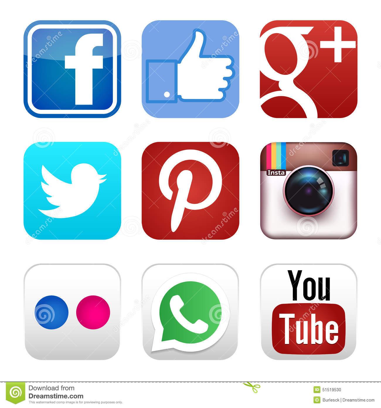 Clipart social media icons. Clipartfest
