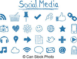 Clip art and stock. Clipart social media icons