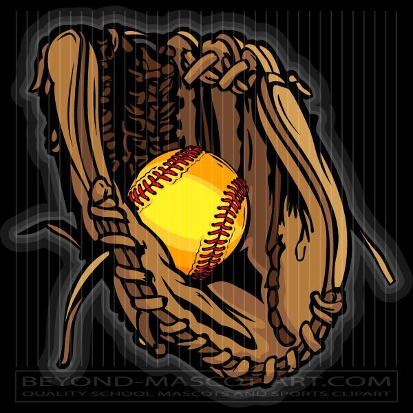 Clipart softball glove image download Fastpitch Softball Glove Art image download