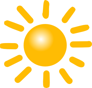 Clipart sol png royalty free download Weather Sunny Clip Art at Clker.com - vector clip art online ... png royalty free download
