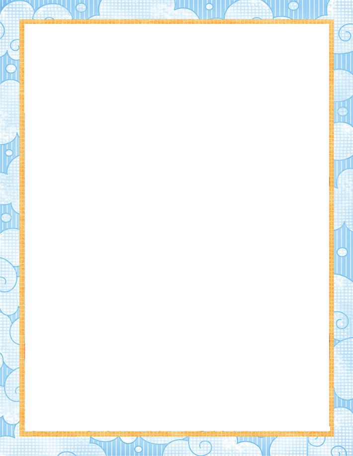 Clipart solid powder blue letterhead stationary borders clip art library library printable paper with baby borders | Free printable baby stationery ... clip art library library