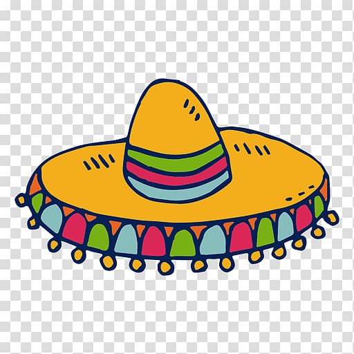 Clipart sombrero hat graphic free download Yellow, green, and red sombrero illustration, Hat Sombrero Headgear ... graphic free download