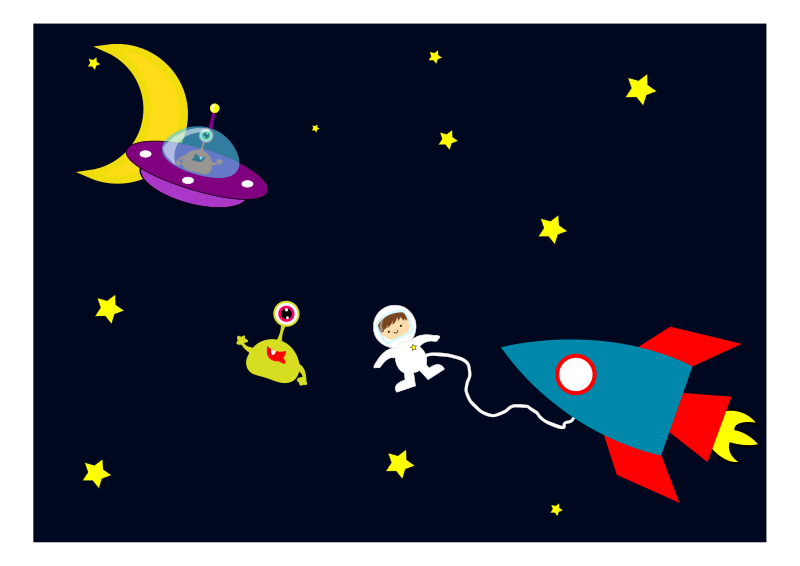 Clipart space com vector stock Free clipart astronaut encounters aliens in space objects agomjo ... vector stock
