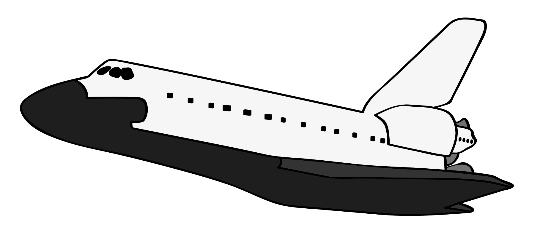 Clipart space shuttle image black and white Collection of Space shuttle clipart | Free download best Space ... image black and white