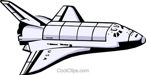 Clipart space shuttle image library download Space shuttle Royalty Free Vector Clip Art illustration -busi0405 ... image library download