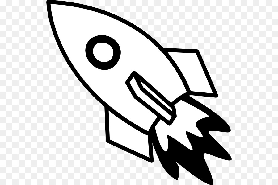 Spaceship clipart black transparent picture library library Download Free png Rocket Spacecraft Black and white Clip art ... picture library library