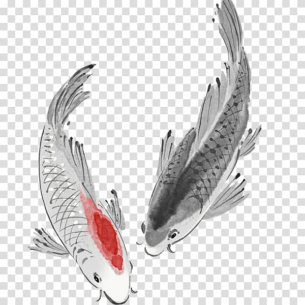 Clipart spear png black and white fish jumping jpg library Koi Carassius auratus Fish Carp, fish transparent background PNG ... jpg library