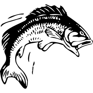 Clipart spear png black and white fish jumping banner transparent Jumping Fish clipart, cliparts of Jumping Fish free download (wmf ... banner transparent