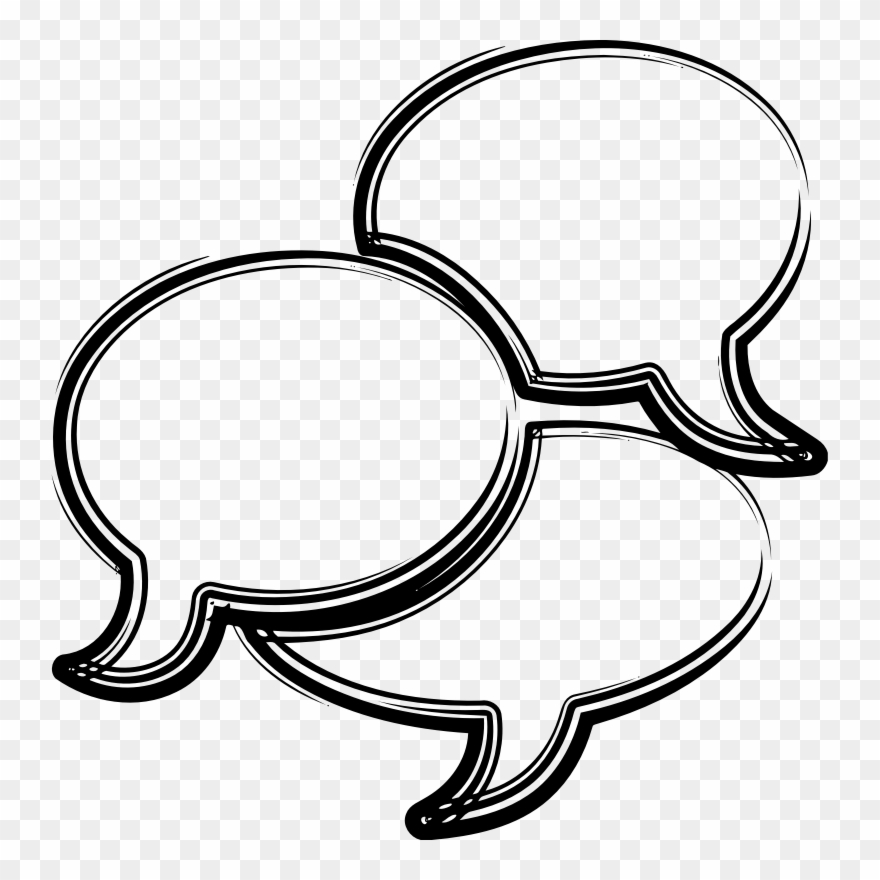Clipart speech png freeuse download Conversation - 2 Speech Bubbles Clip Art - Png Download (#545119 ... png freeuse download