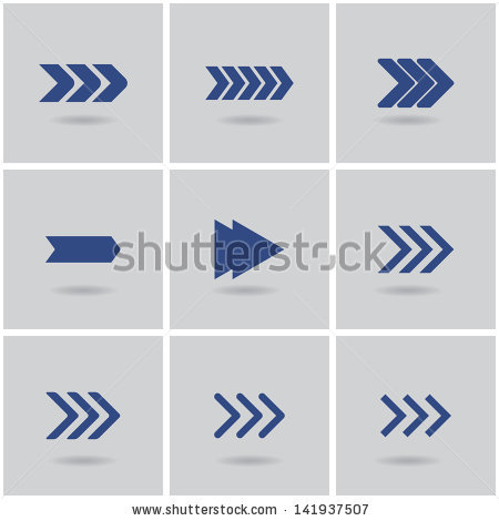 Arrows vector design elements. Clipart speed arrow
