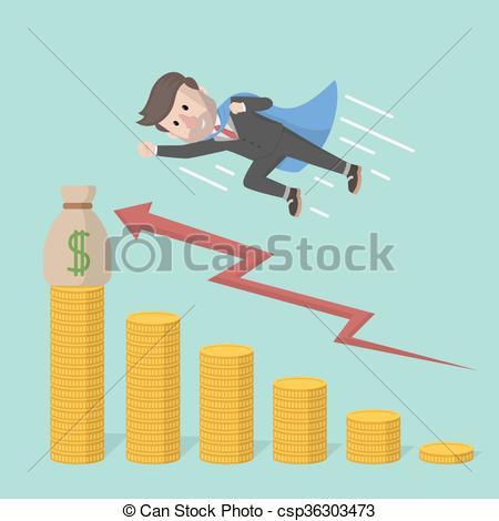 Clipart speed arrow. Vectors illustration of businessman